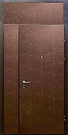 металлические двери с боковыми и верхней фрамугой