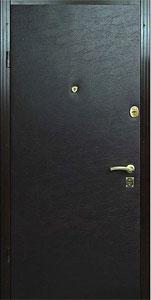 Изготовление и установка металлических дверей. Отделка виниловой кожей.